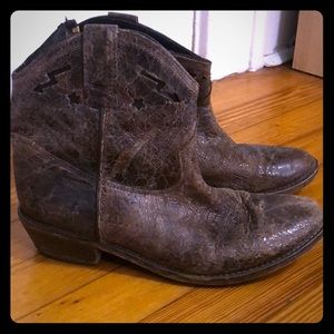 Steven by Steve Madden distressed Cowboy boot 8
